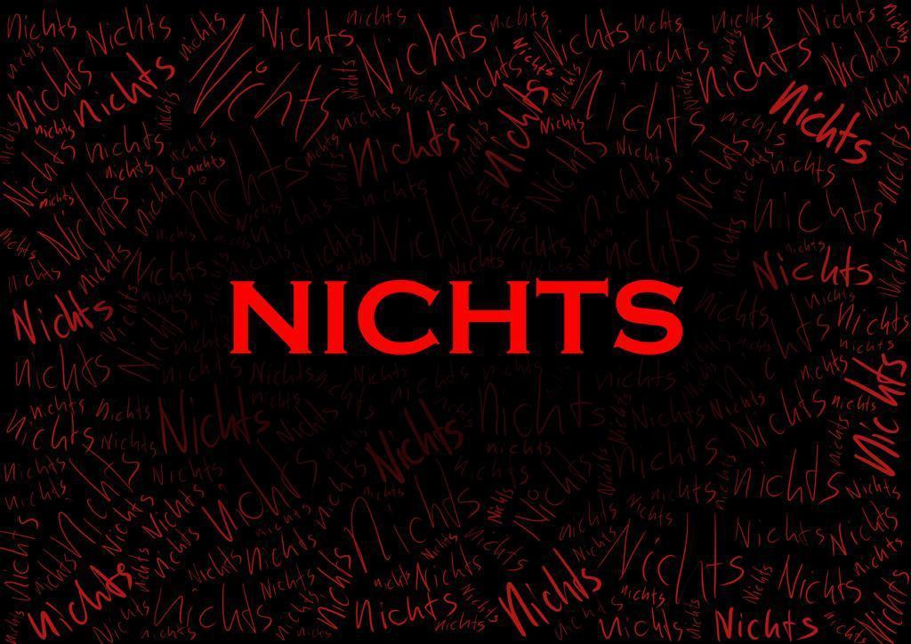 NICHTS - Flyerbild Produktion des Jungen Theaters Winterthur